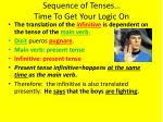 sequence of tenses time to get your logic on