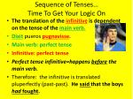 sequence of tenses time to get your logic on3