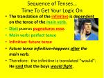 sequence of tenses time to get your logic on4