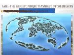 uae the biggest projects market in the region