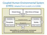 coupled human environmental system ches adapted from locatelli et al 2008
