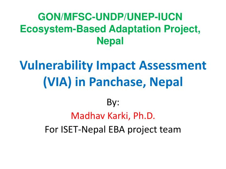 vulnerability impact assessment via in panchase nepal n.
