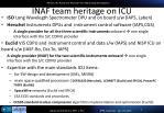 inaf team heritage on icu