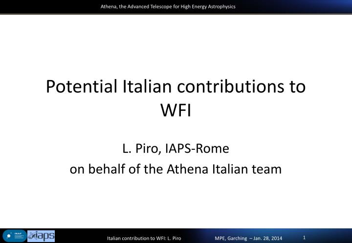 potential italian contributions to wfi n.