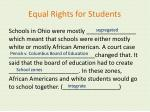 equal rights for students