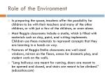 role of the environment1