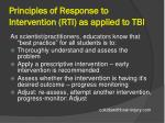 principles of response to intervention rti as applied to tbi