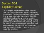 section 504 eligibility criteria