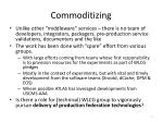 commoditizing