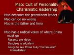 mao cult of personality charismatic leadership