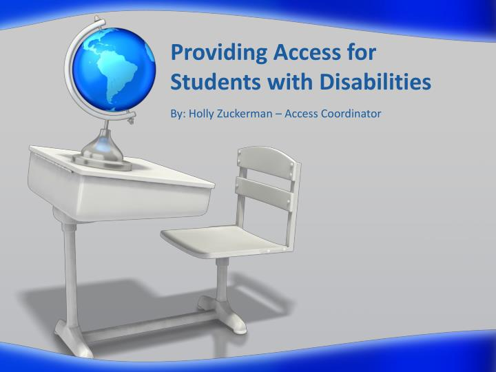 providing access for students with disabilities n.
