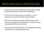 determine gross urban density