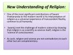new understanding of religion