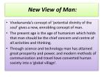 new view of man