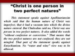 christ is one person in two perfect natures