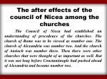 the after effects of the council of nicea among the churches
