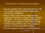 examples of analyzing images