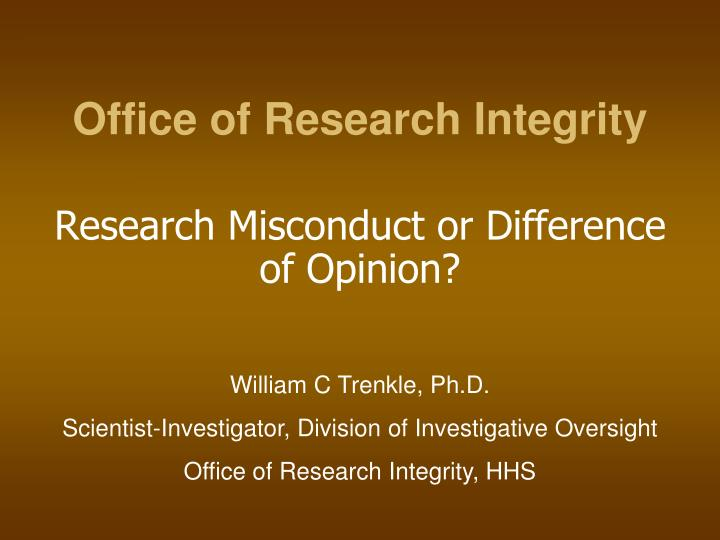 office of research integrity n.