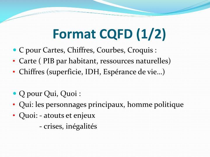 Format CQFD (1/2)