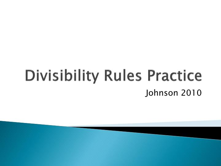 Divisibility rules practice