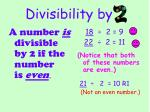 divisibility by