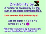 divisibility by1