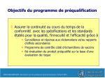 objectifs du programme de pr qualification2
