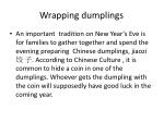 wrapping dumplings