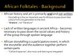 african folktales background