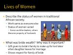 lives of women