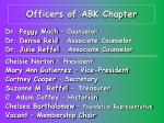 officers of abk chapter