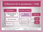 influence de la grossesse vhb