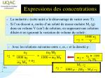 expressions des concentrations1