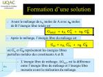 formation d une solution