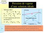 pression de vapeur d une solution id ale