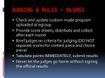judging rules dlshsi
