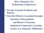more strategies for enhancing competence