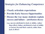 strategies for enhancing competence