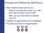 strategies for enhancing self esteem