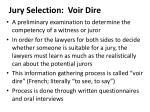 jury selection voir dire
