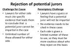 rejection of potential jurors