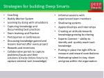 strategies for building deep smarts