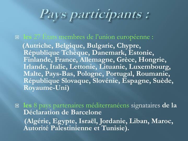 Pays participants:
