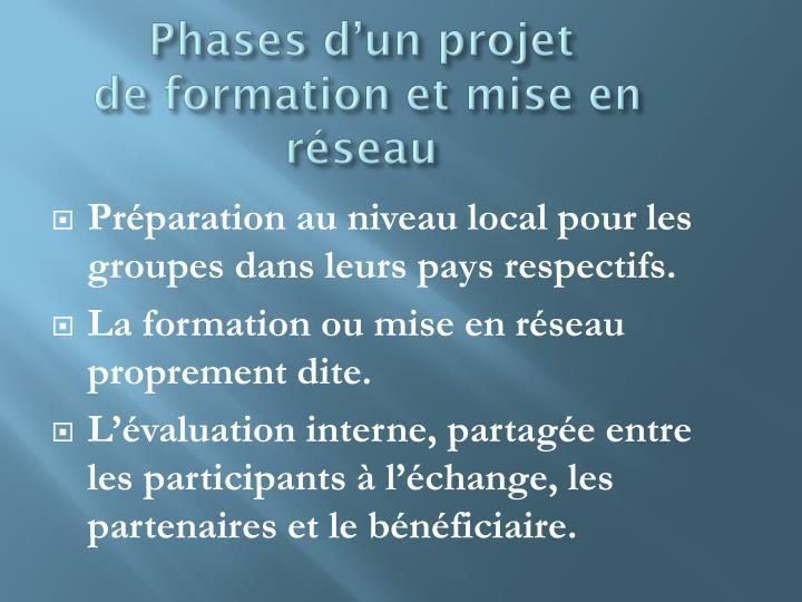 Phases d'un projet