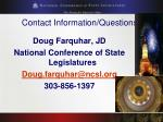 contact information questions