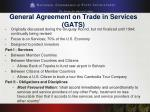 general agreement on trade in services gats