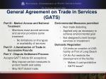 general agreement on trade in services gats1