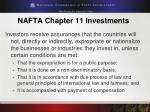 nafta chapter 11 investments