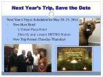 next year s trip save the date