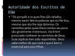 autoridade dos escritos de egw4